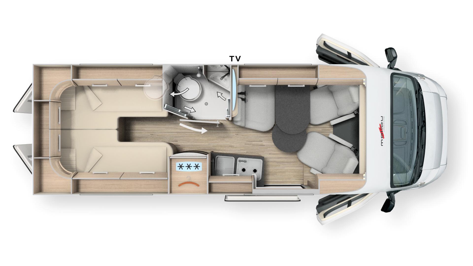 MA Grundriss Malibu Van Charming Coupe 640 LE MJ2021